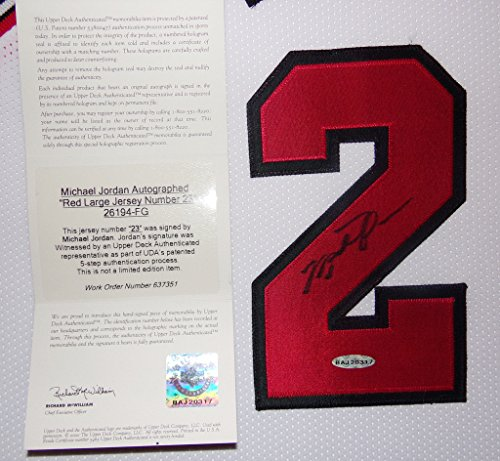 Michael Jordan Framed Jersey Signed UDA COA Upper Deck Chicago Bulls ...