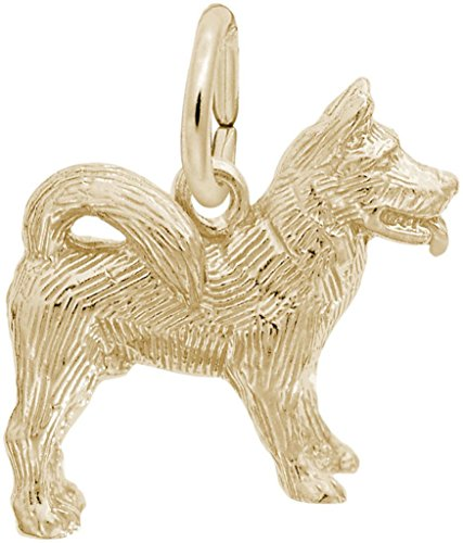Rembrandt Akita Dog Charm - Metal - 14K Yellow Gold