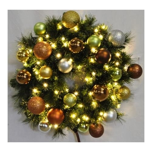 Christmas at Winterland WL-GWBM-02-WOOD-LWW 2 Foot Pre-Lit Warm White Blended Pi, Warm White