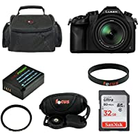 Panasonic LUMIX DMC-FZ1000 Digital Camera w/ DMW-BLC12 Battery & Deluxe SLR Photo Case Bundle