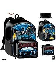 Batman School Backpack Lunch Box Book Bag Combo SET
