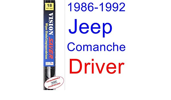 Amazon.com: 1986-1992 Jeep Comanche Wiper Blade (Driver) (Saver Automotive Products-Vision Saver) (1987,1988,1989,1990,1991): Automotive