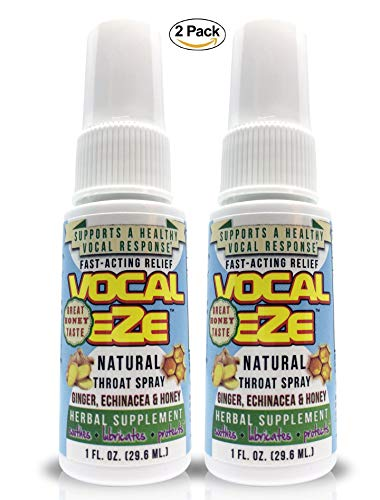Vocal Eze, Vocal Herbal Throat Spray (2) Bottle | Celebrity Endorsed |  Relieve Sore, Horse, Fatigue, Dryness, Immune Support, All Natural  Ingredients