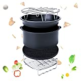 Appliances : Air Fryer Accessories 2017 Upgrade for Gowise Phillips and Cozyna or More Brand, Match all 3.7QT-5.3QT-5.8QT, Deep Fryers Universal Set of 5