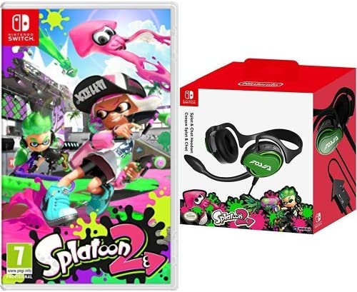 Splatoon 2 + Hori - Auriculares Splatoon 2 Splat & Chat: Amazon.es: Videojuegos