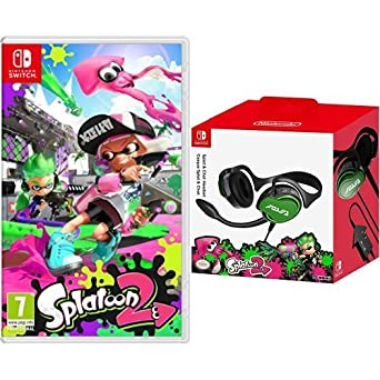 Splatoon 2 + Hori - Auriculares Splatoon 2 Splat & Chat