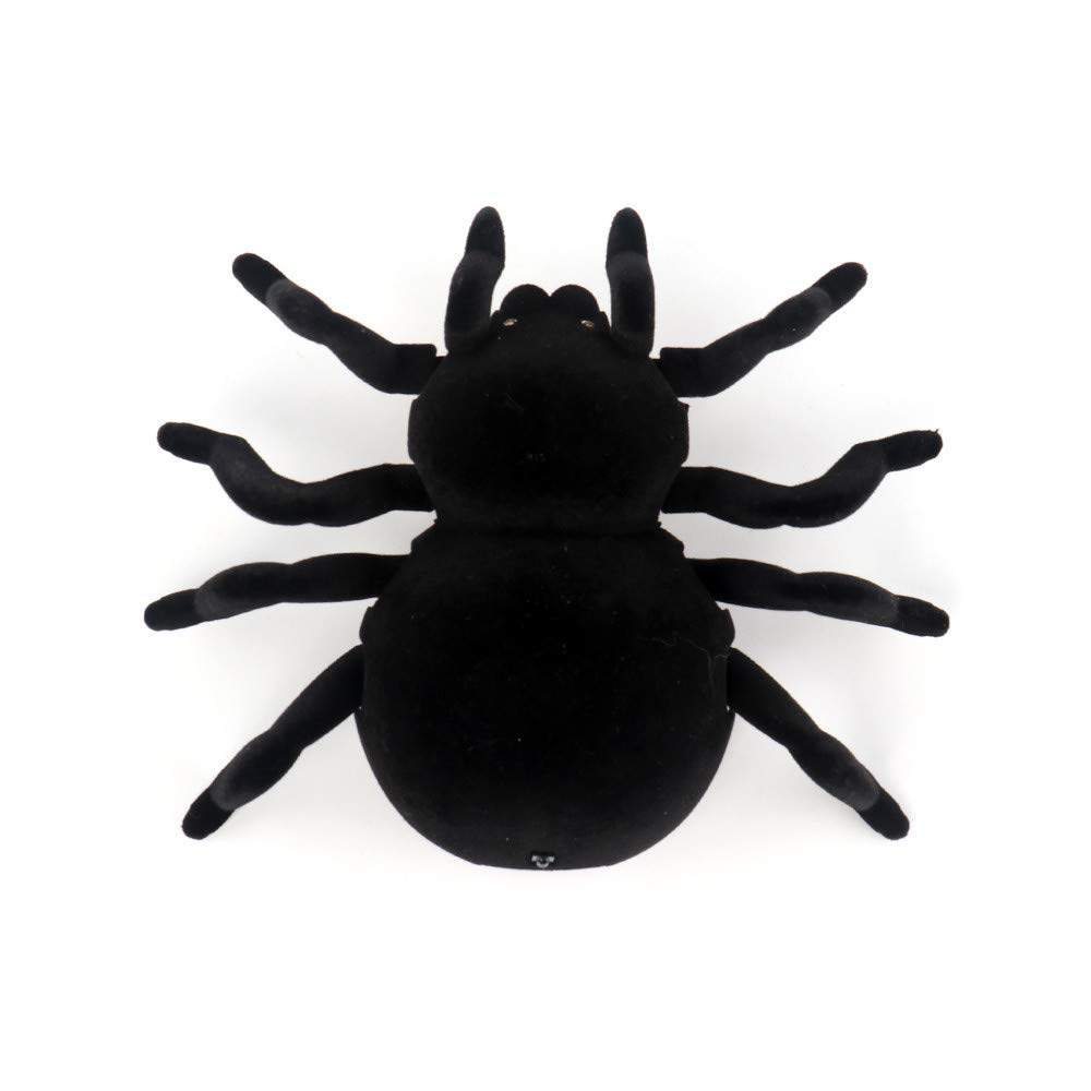 BB67 RC Wall Climbing Spider Simulation Joke Scary Trick Scared Electronic Spider Toy Prank Toy Kids Friends Adult Halloween Decoration Home Garden Decor by BB67