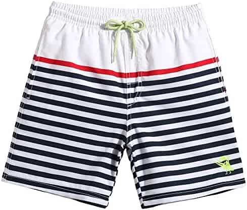 78111bc50e MaaMgic Little Boys Swim Trunks with Pocket Toddler Swim Shorts Kids Solid  Beach Wear Girls Funny