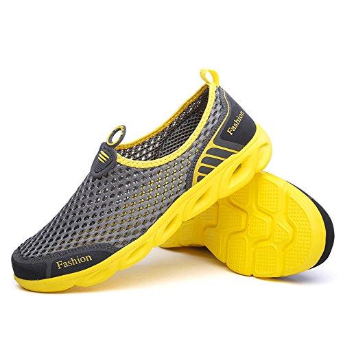 Ceyue Herren Wasser Schuhe Leichte, schnell trocknende Sport Aqua Schuhe Grau