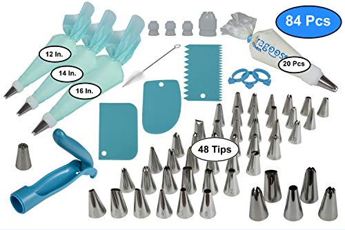 Cake Decorating Supplies Kit Tools Set Tips Bags Beginners ...