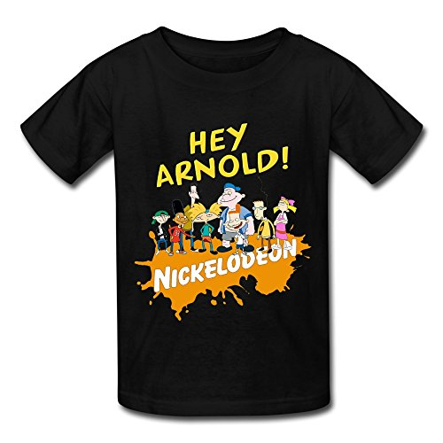 Kazzar-Kids-Hey-Arnold-Fan-Art-Round-Collar-T-Shirt