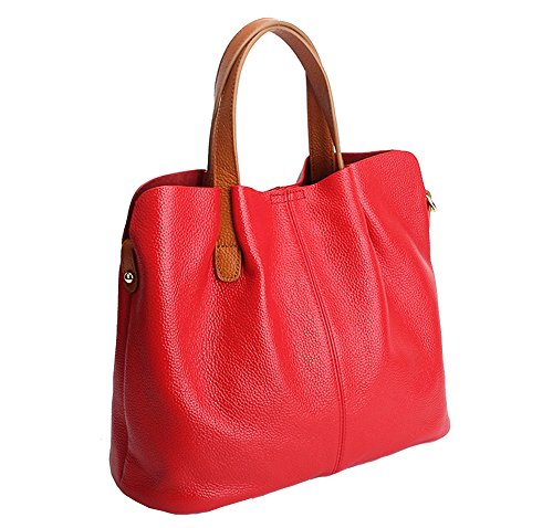 Red Leather Handbags - 6