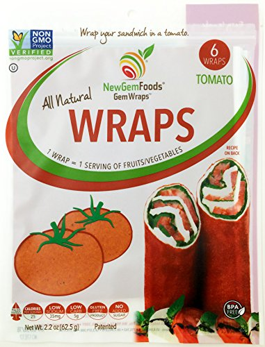 Newgemfoods, Gem Wraps Tomato 6 Count, 2.2 Ounce