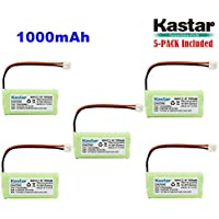 Kastar 5-PACK AAAX2 2.4V EH 1000mAh Ni-MH Rechargeable Battery for BT184342 BT284342 BT18433 BT28433 BT-1011 BT-1022 BT-1031 Vtech CS6229 DS6301 Uniden Wxi3077 ECT4066 DECT4096 Motorola Cordless phone