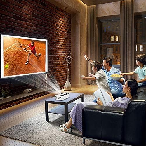 プロジェクター、Bluetooth 1920x1080 LEDプロジェクター、映画ビデオビーマー、ホームシアターホームビデオデバイスAndroid用のプロジェクターシステム(US standard 110-240V)