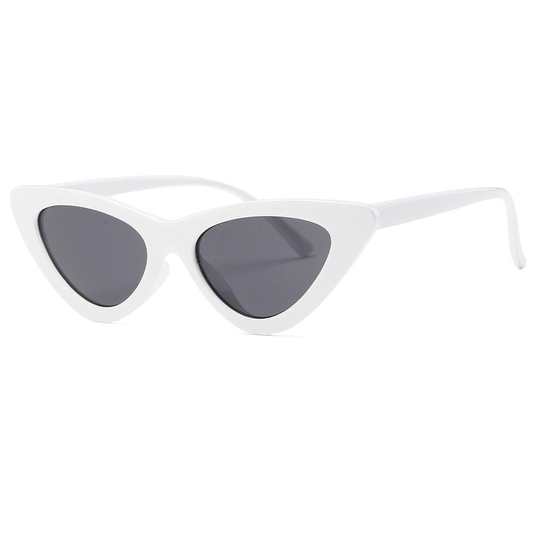 kimorn Œil De Chat lunettes de soleil pour femmes Clout Goggles Charnières métalliques K0566 (Rouge&Argent) fMlmKI