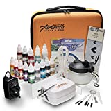 Airbrush Cake Decorating Kit | Watson & Webb Little Airbrush Including 13 Colours | Stencil | 1 x...