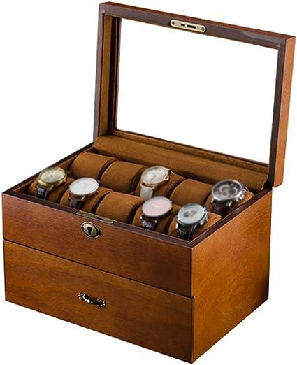 Weiß Kissen Single Slot Uhr Holz Display Box Lagerung Schmuck Männer