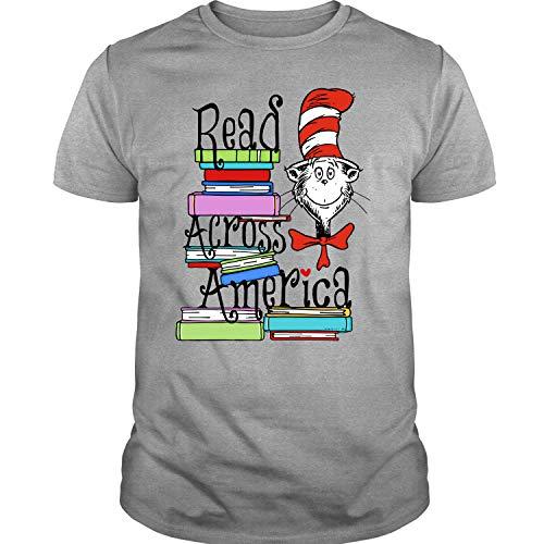 Read Across America Day T Shirt, Dr. Seuss T Shirt - Unisex (XL, Sport (Dr Seuss Shirts For Teachers)