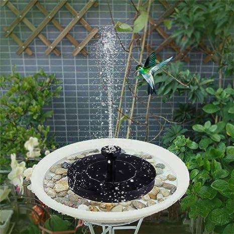 HYGJ Fuente Solar Fuente de Agua Fuentes de jardín Cascadas Fuente Flotante de Aves solares Fuente de Bomba de Agua: Amazon.es: Deportes y aire libre