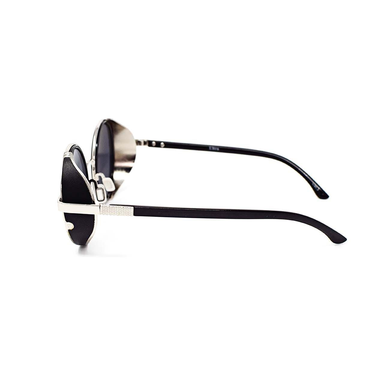 UltraByEasyPeasyStore Steampunk Sonnenbrille Retro Damen Herren Rund Rave Gothic Vintage UV400 Metall