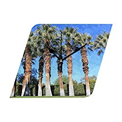 Ladninag Wall Clock Our First Family Trip to Palm Springs Silent Non Ticking Decorative Diamond Digital Clocks Home/Office/School Clock