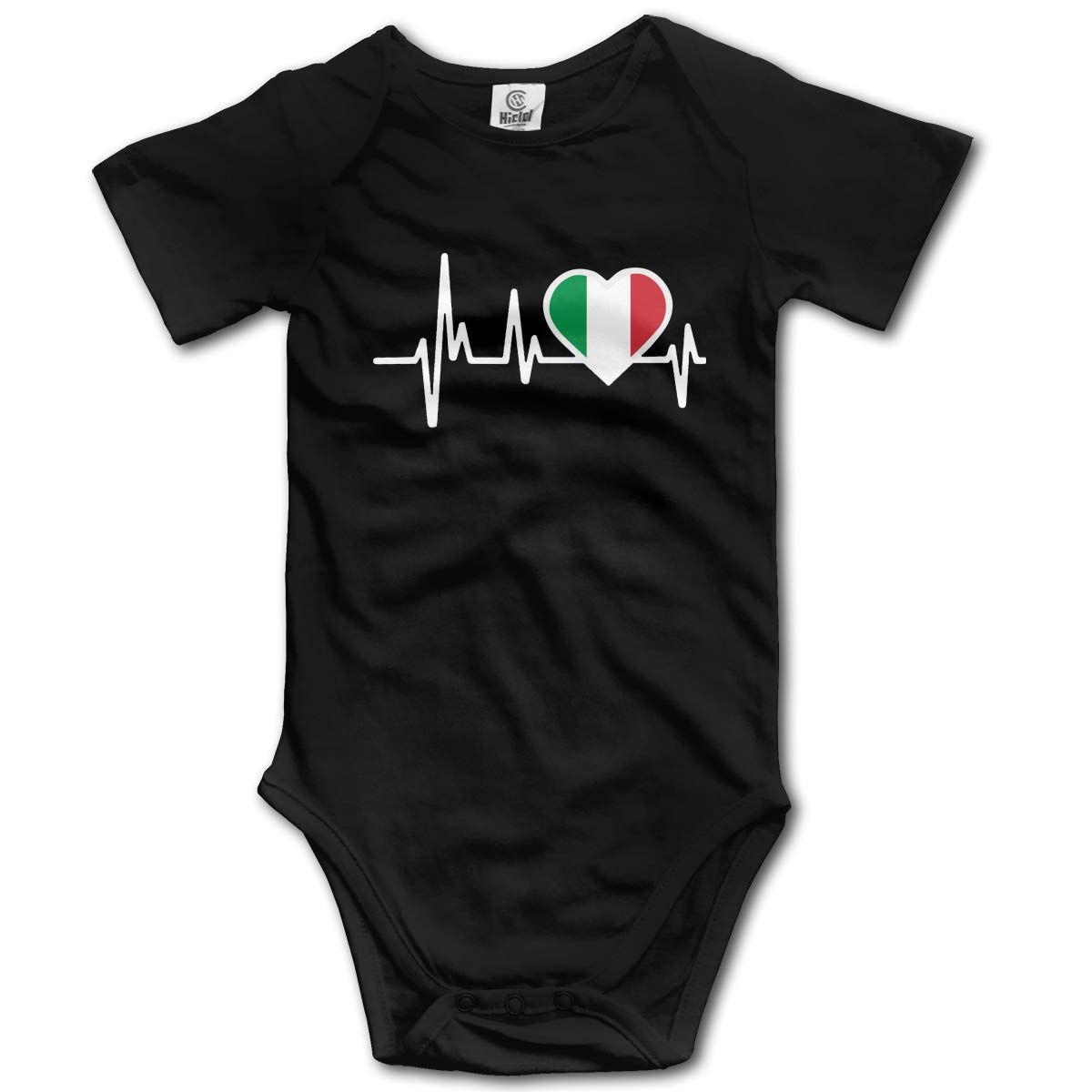 Baby Boys Italy Heartbeat Flag Short Sleeve Climbing Clothes Pajamas Sleepwear Suit 6-24 Months