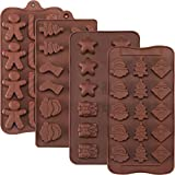 Best Silicone Mold For Candy Chocolates - Jovitec 4 Pieces Christmas Silicone Molds Chocolate Candy Review