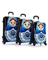 Heys Fashion Spinner 3 Piece Hardside Luggage Set, Russian Dolls