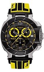Tissot T-Race Black Dial SS Rubber Chronograph Quartz Men's Watch T0484172705711