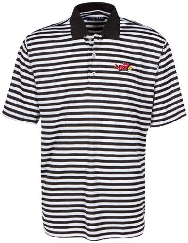 Illinois Tailgate Golf (Oxford NCAA Illinois State Redbirds Men's Bar Stripe Golf Polo, Black/White, XX-Large)