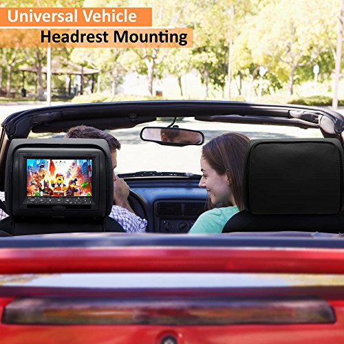 Pyle 2017 Upgraded HD Quality Car Headrest DVD Player Monitor Display 7 inch Widescreen, Remote Control , USB / SD Reader, FM IR Transmitter for Car Mini Van Travel Entertainment  - PL74DBK (BLACK) by Pyle (Image #7)
