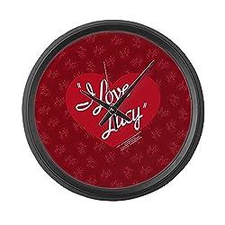 CafePress - I Love Lucy Logo - Large 17 Round Wall Clock, Unique Decorative Clock