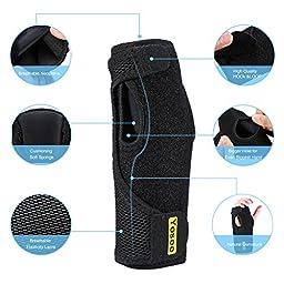 Yosoo Wrist Brace for Night Sleep Adjustable Neoprene Wrist Splint Hand Brace for Wrist Carpal Tunnel Syndrome Wrist Support, Arthritis, Sprains and Bursitis, Black