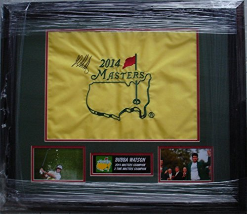 - Bubba Watson Signed / Autographed 2014 The Masters Flag - Augusta National - JSA Certified