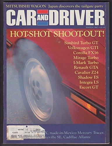 (CAR & DRIVER Pontiac Bonneville Mercury Tracer Cadillac Allante road test 3 1987)