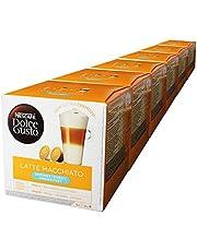 Nescafé Dolce Gusto Latte Macchiato osötad, förpackning med 6, 6 x 16 kapslar (48 portioner)
