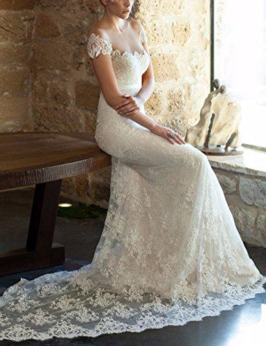CoCogirls - Vestido - globo - para mujer Weiß