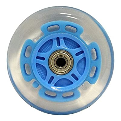 Kick Push LED Scooter Wheels with Abec9 Bearings for Razor Scooters Light Up (2 Pack), Blue, 100mm : Sports & Outdoors
