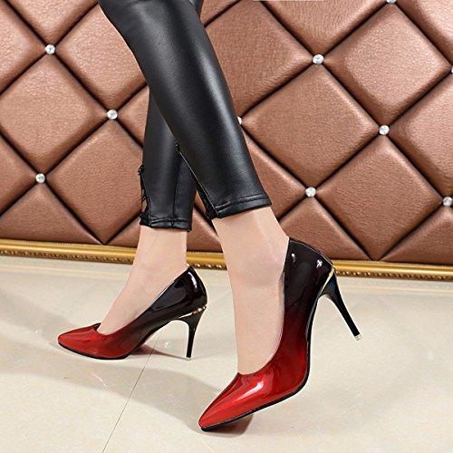 Zapatos Tacones seven Mujer GTVERNH Puntiagudas Altos Zapatos 9Cm Thirty Delgados Mujeres Superficial CZwtq8