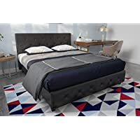 DHP Dakota Upholstered Faux Leather Platform Bed with...