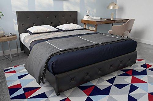 Amazon.com: DHP Dakota Upholstered Faux Leather Platform