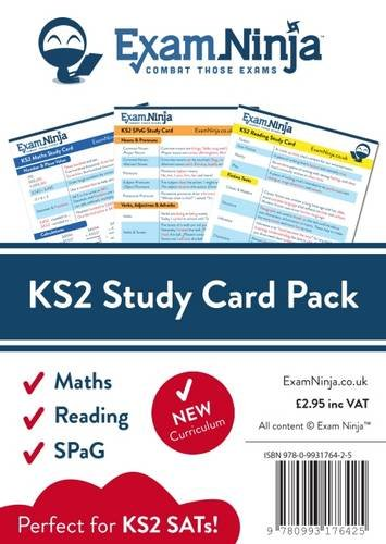 KS2 SATs Study Card Pack: Maths, Reading & SPaG: Great for ...