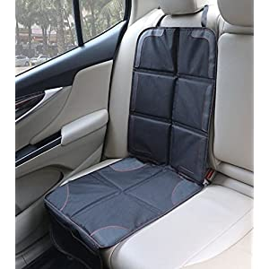 Car Seat Protector / Heavy Duty Protects Upholstery with Padded Cover / Organiser Pockets / Universal size / Ideal for Baby and toddler car seats / Anti-Slip / Suits Forward or Rear facing child seat liner / BabyMad¨ PREMIUM PRODUCT