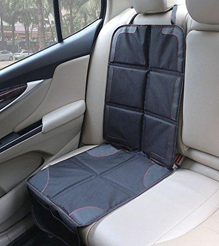 BabyMad® Autositzschoner, robust, schützt Polster mit gepolstertem Bezug, mit Taschen, Universalgröße, ideal für Baby- und Kleinkindsitze, rutschfest, passt für nach vorne oder hinten gerichtete Kindersitze