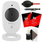 Vivitar VIV-IPC-113N IP CAM. 1.3MP W/110 Angle Night Vision + 100 Lens Tissue + Lens Pen + Dust Blower + 3pc Cleaning Kit