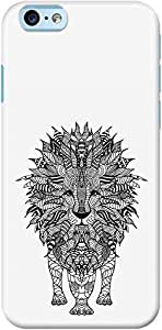 DailyObjects Aztec Lion Case For iPhone 6 White/Cream