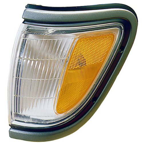 (1995-1996-1997 Toyota Tacoma Pickup Truck (4WD 4 Wheel Drive) Corner Park Light Turn Signal Marker Lamp with Black Trim Left Driver Side (95 96 97))