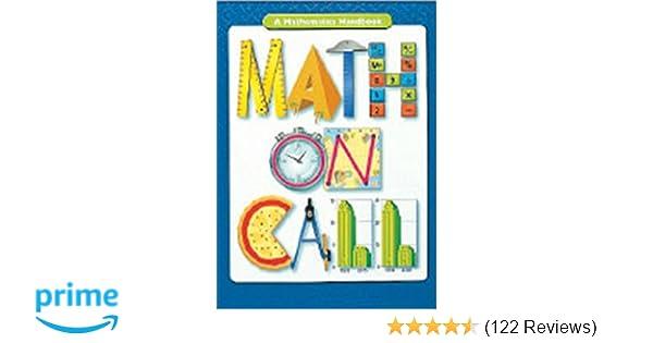 Math On Call Handbook Softcover Grades 6 8