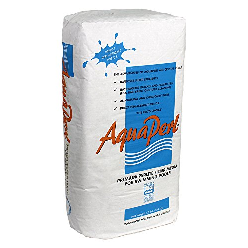 Perlite AquaPerl-12 4212 Filter Powder D.E. Alternative for Swimming Pools, 12-Pou, White
